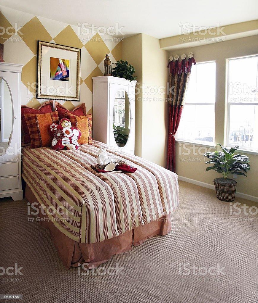 Girls bedroom - Royalty-free Bedding Stock Photo