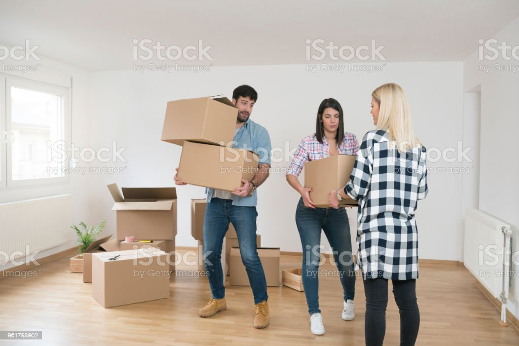 Girls, Can You Give Me A Hand Here? stock photo