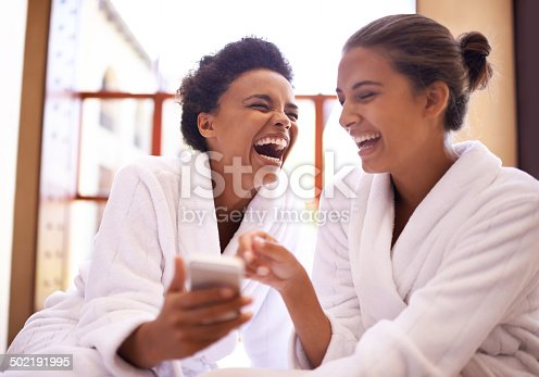 istock #Girls day at the spa! 502191995