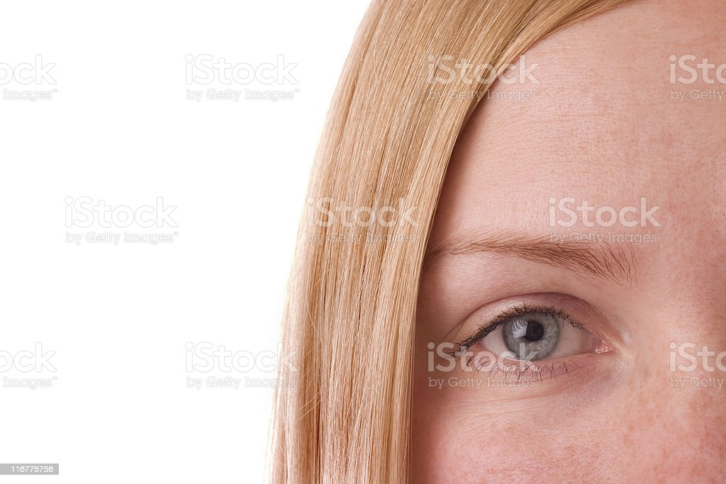 Girl's eye royalty-free stock photo