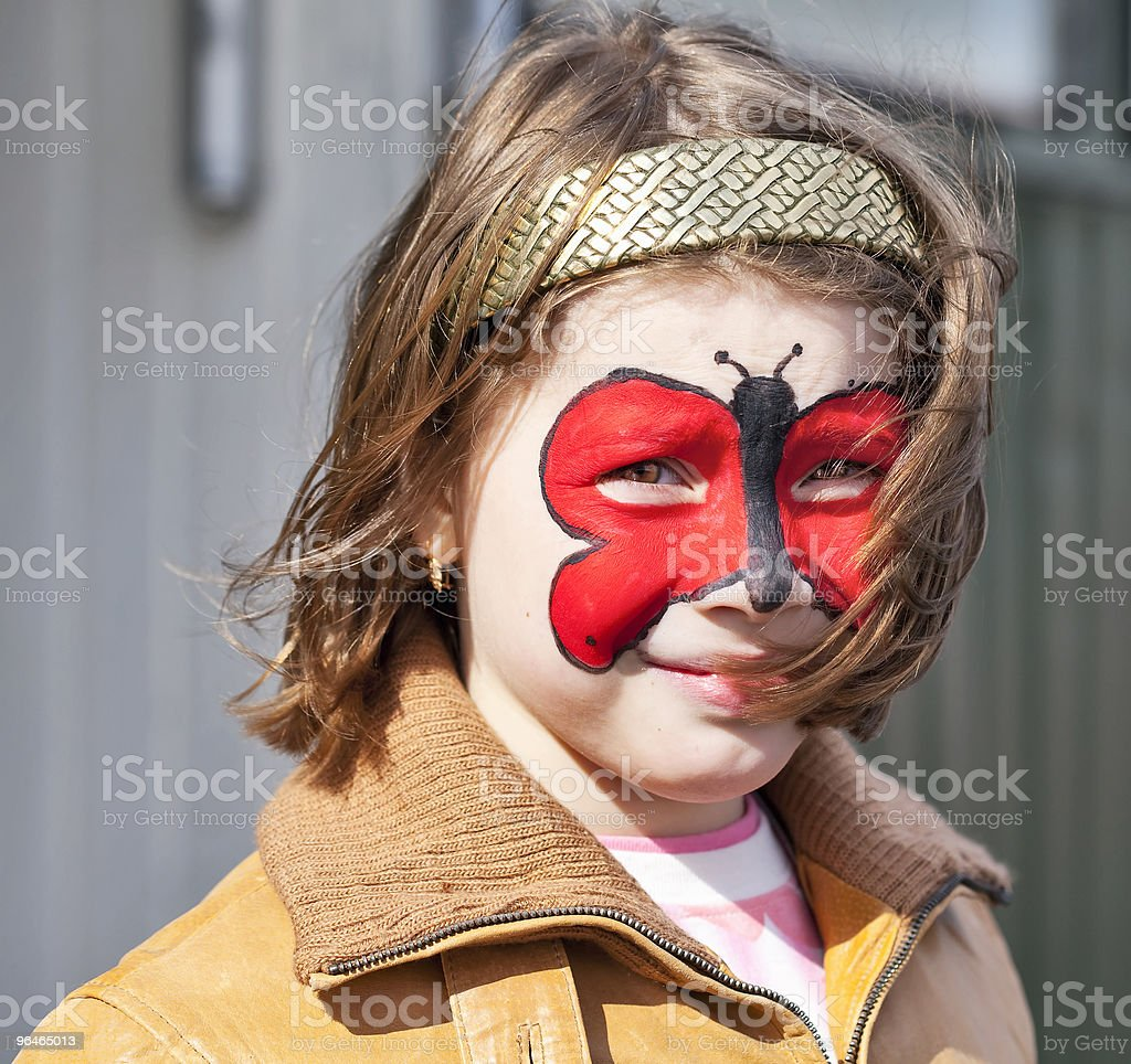 Girls face painting royalty-free stock photo