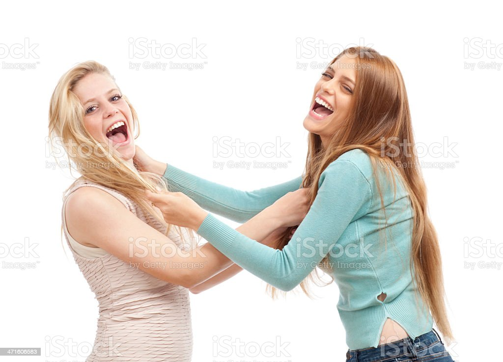 Girls fight. royalty-free stock photo