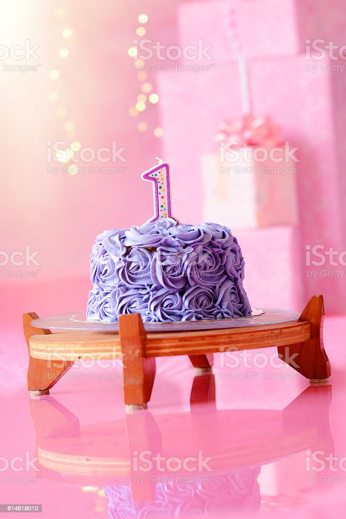 Fine Girls First Birthday Cake Stock Photo Download Image Now Istock Personalised Birthday Cards Veneteletsinfo