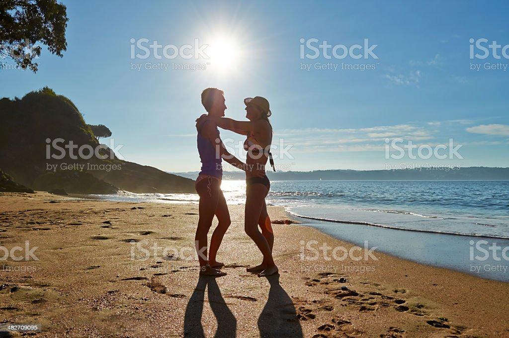 Girls flirting. stock photo