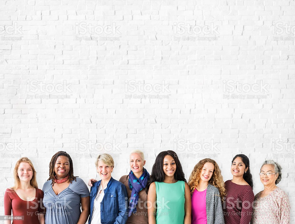 Girls Friendship Togetherness Community Copy Space Concept stock photo