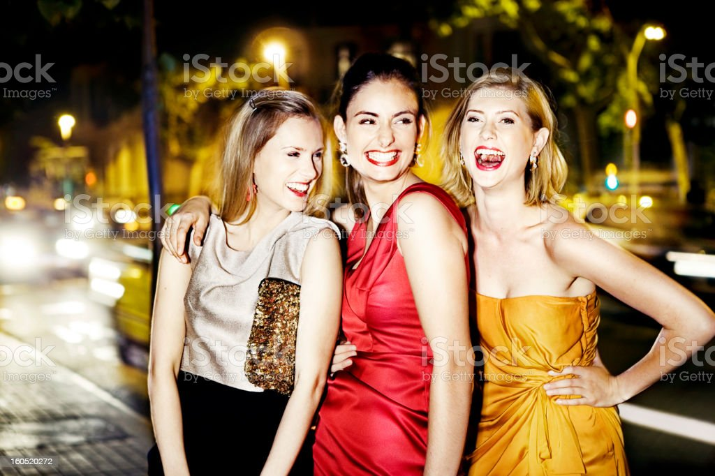 Girls going out royalty-free stock photo