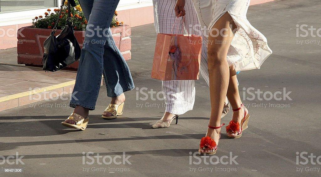 Girls going shopping royalty-free stock photo