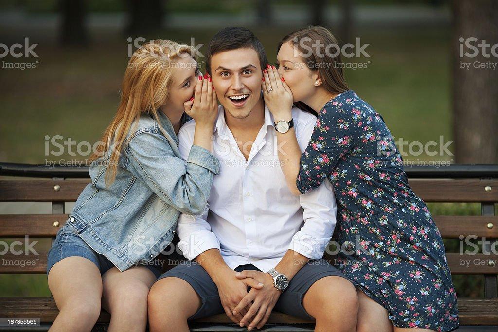 Girls gossiping. royalty-free stock photo