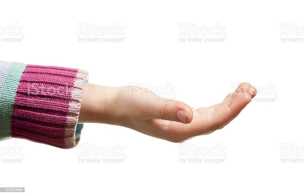 Girls hand stock photo