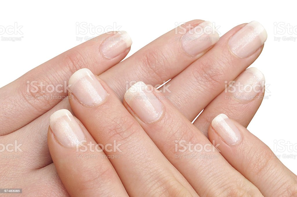 Girl's hands with perfect nail manicure royalty-free stock photo