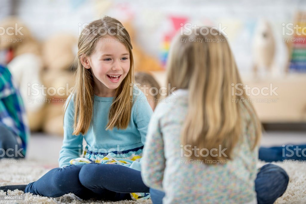 Girls Hanging Out - Royalty-free 4-5 Years Stock Photo