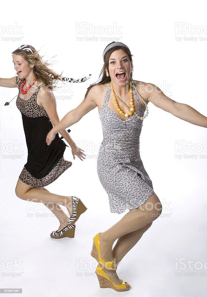 Girls having fun royalty-free stock photo