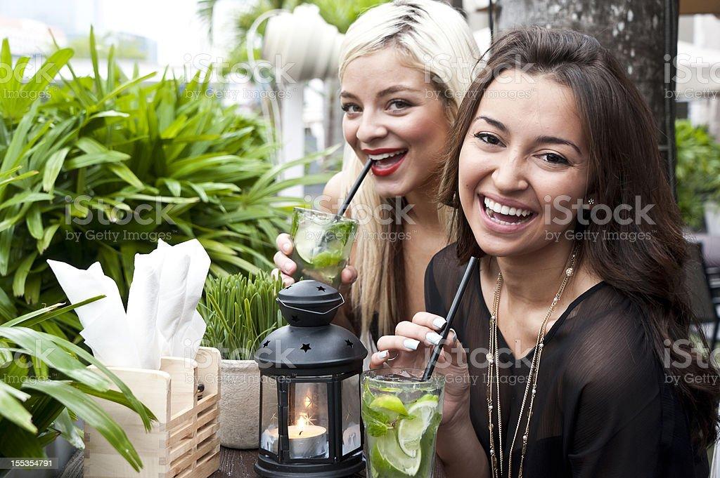 Girls Having Mojitos stock photo