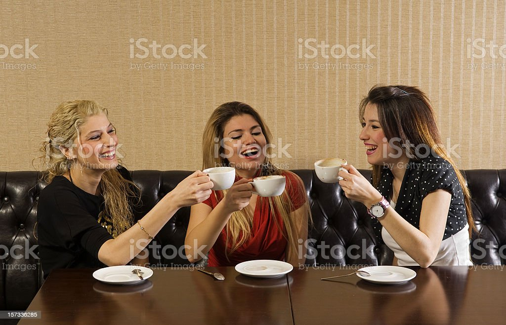 girls in cafe royalty-free stock photo