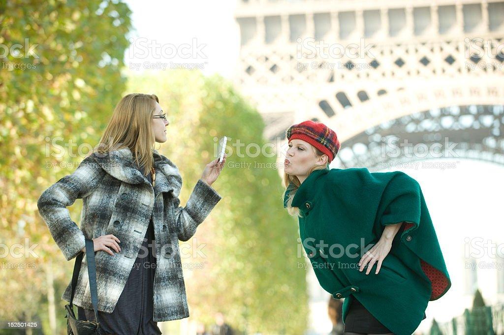 Girls In Paris royalty-free stock photo