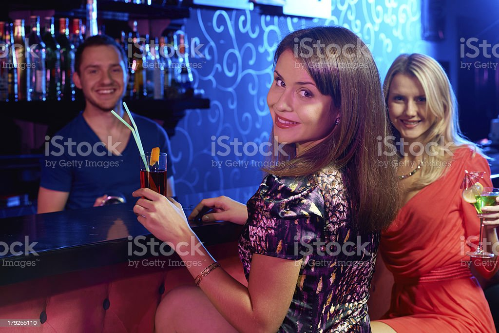 Girls in the bar royalty-free stock photo