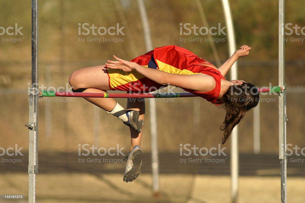 Girls Jump High stock photo