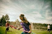 Girls loving playing field sports