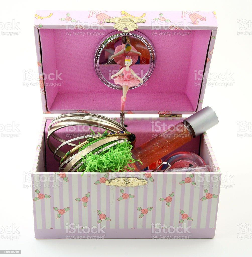 Girl's music box stock photo