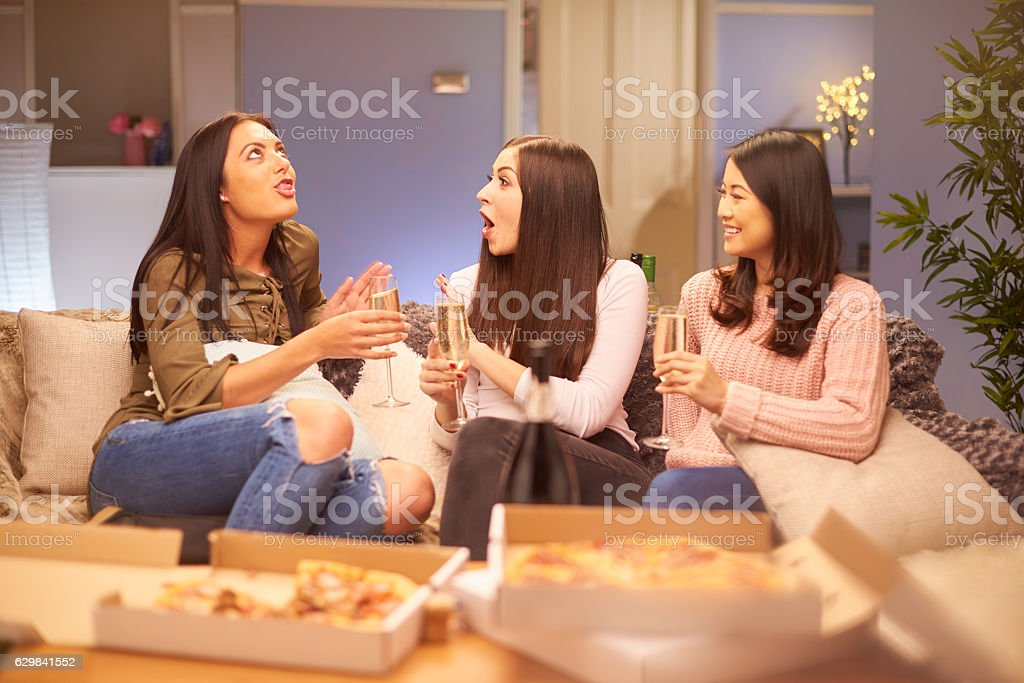 girl's night in stock photo
