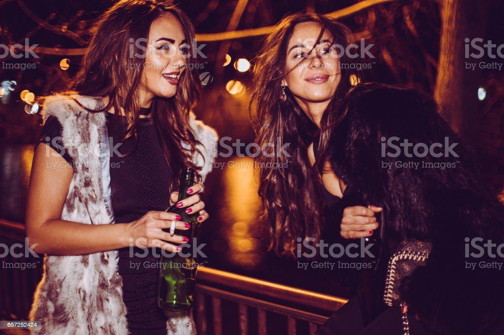 Girls night out stock photo