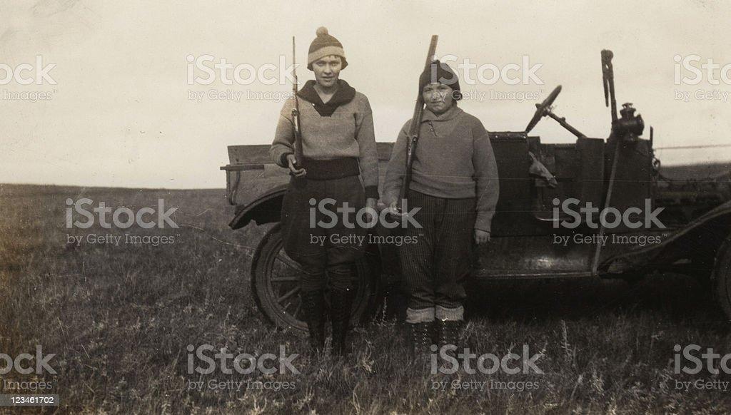 Mädchen auf einem Jagd- Reise – Foto
