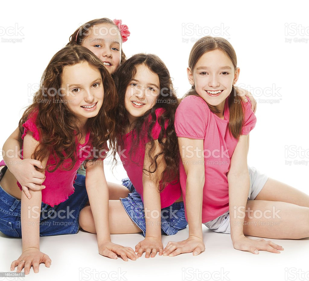 Girls only party royalty-free stock photo
