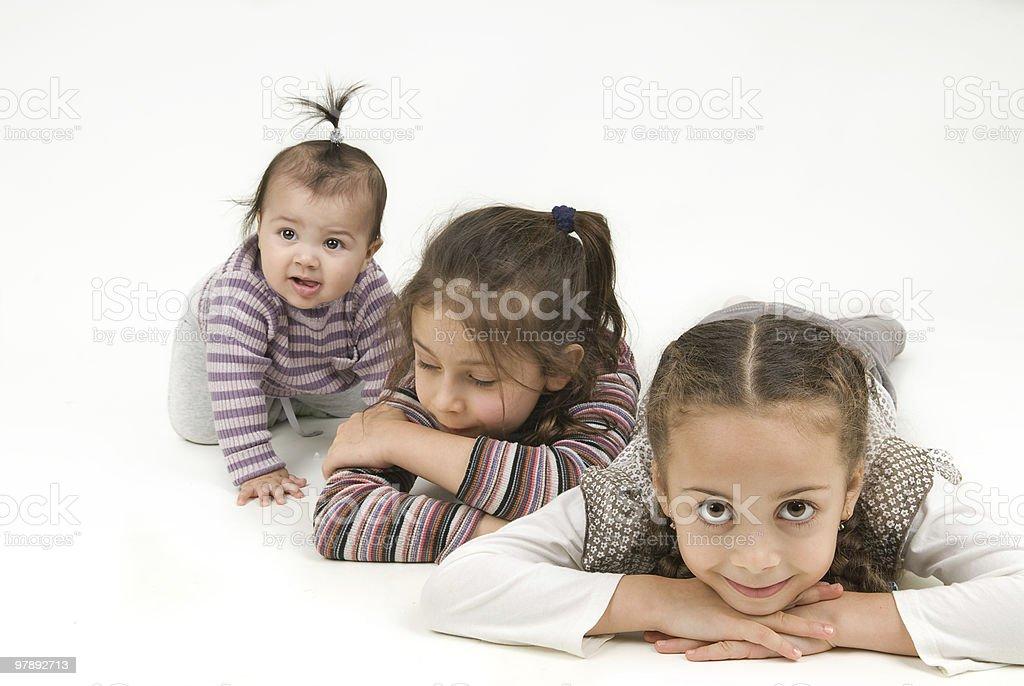 girls play royalty-free stock photo