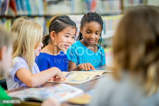 istock Girls Reading In A Group 938588250