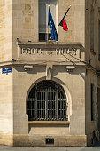 Girls school entrance in Bordeaux, France.