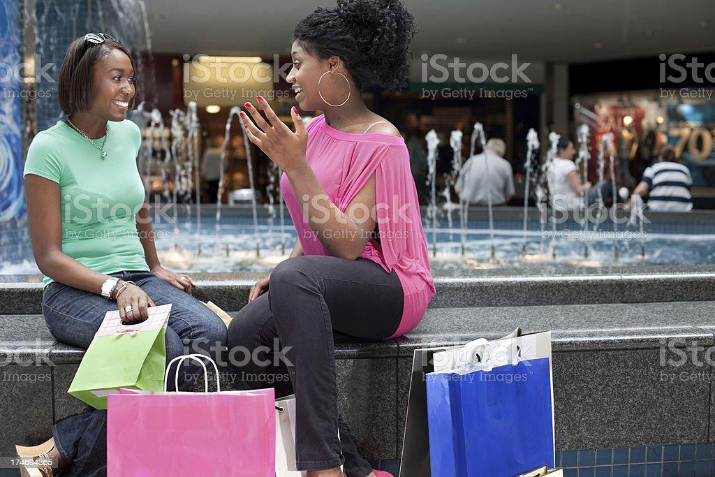 Girls shopping royalty-free stock photo