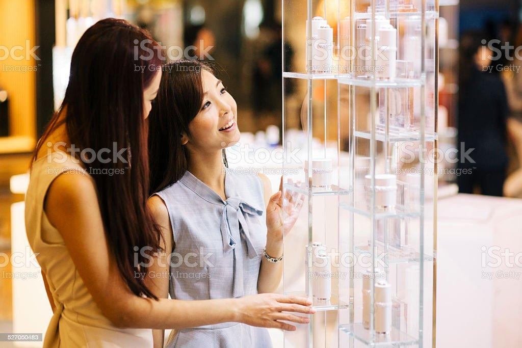 Girls Shopping stock photo