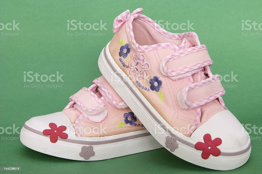 girls sneakers royalty-free stock photo