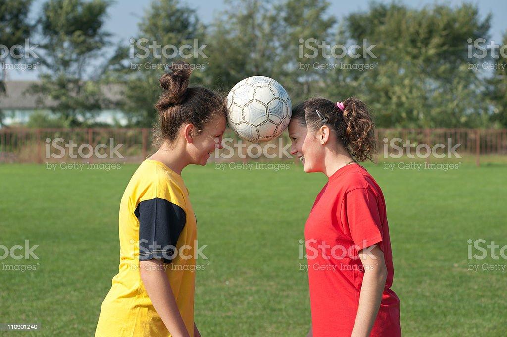 Girls  soccer royalty-free stock photo