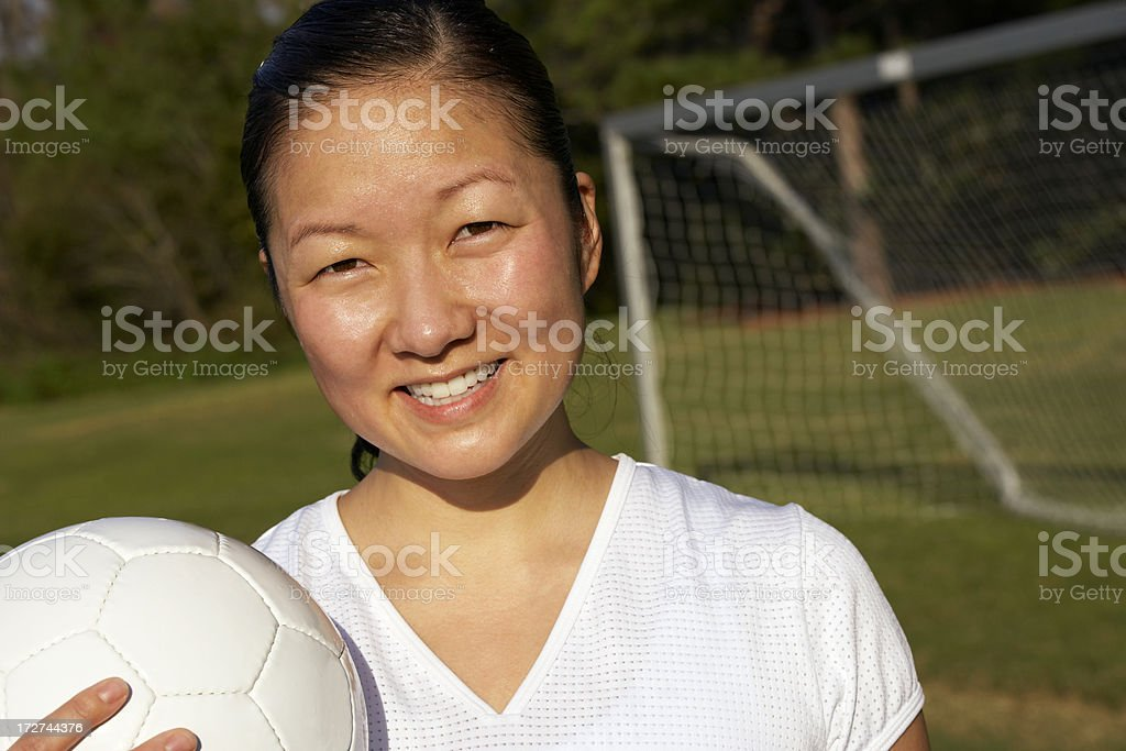 girls soccer player stock photo