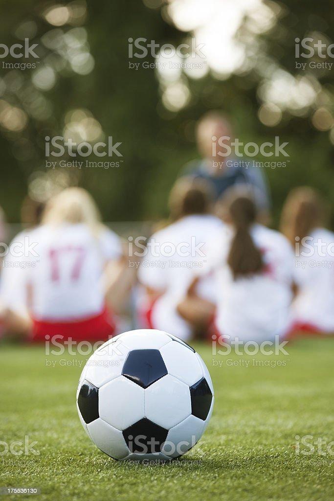 Girls soccer team stock photo