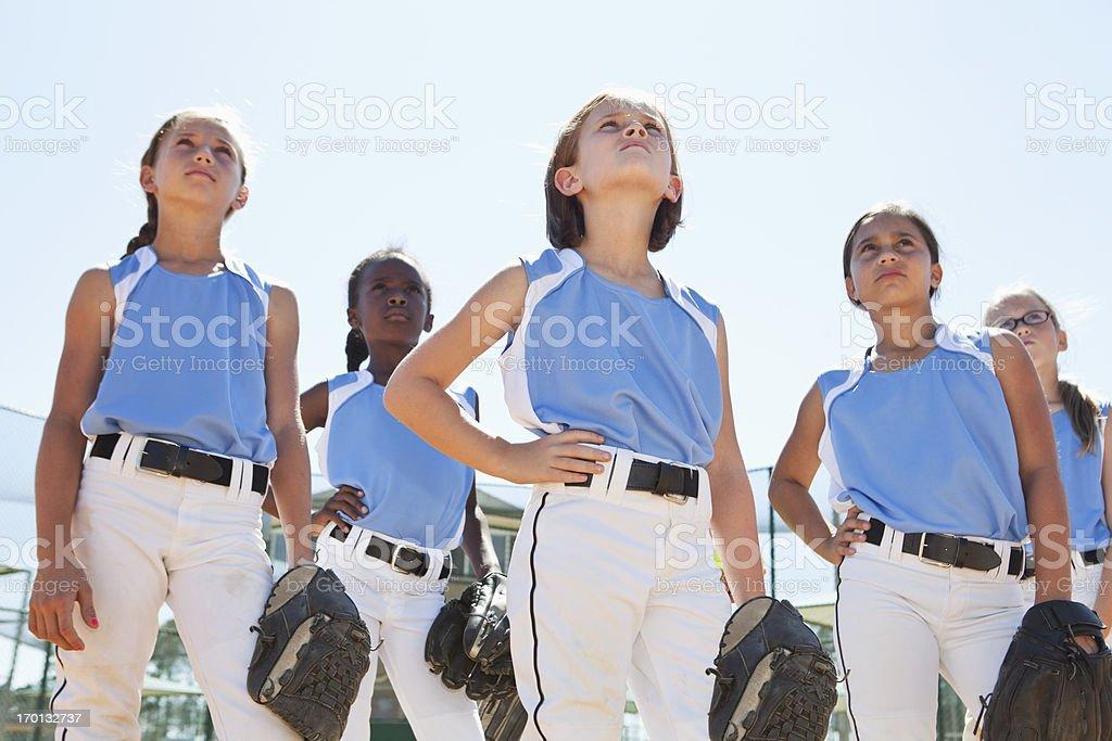 Girls softball team stock photo