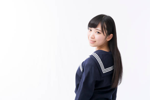 A girls student in a sailor suit A girls student in a sailor suit japanese school girl stock pictures, royalty-free photos & images