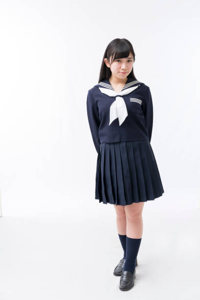 A girls student in a sailor suit A girls student in a sailor suit female high school student stock pictures, royalty-free photos & images