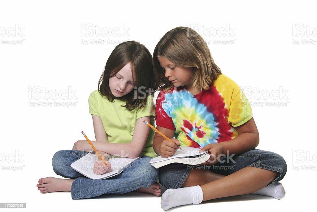Girls Studying royalty-free stock photo