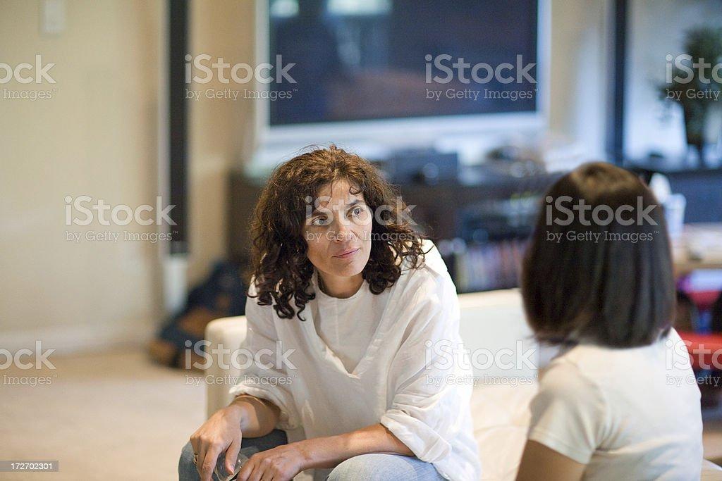 Girls Talking royalty-free stock photo