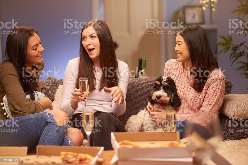 girl's together stock photo