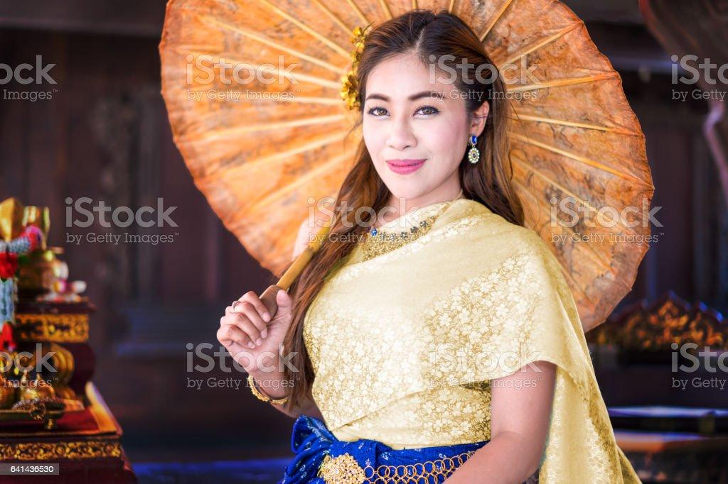 Girls wear Thailand stock photo