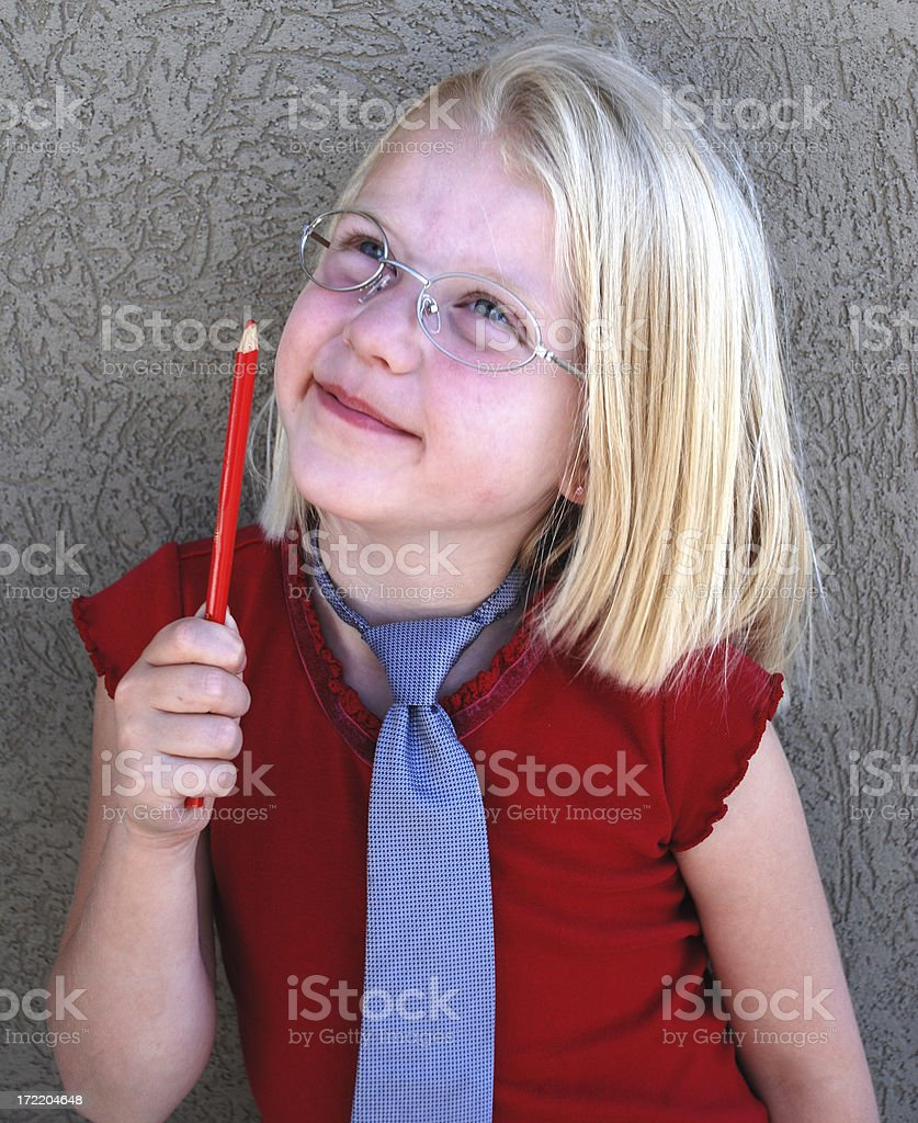 Girls wear ties too! royalty-free stock photo