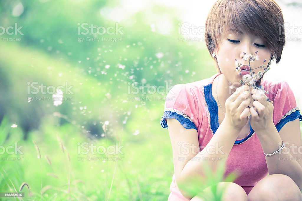 girl's wish royalty-free stock photo