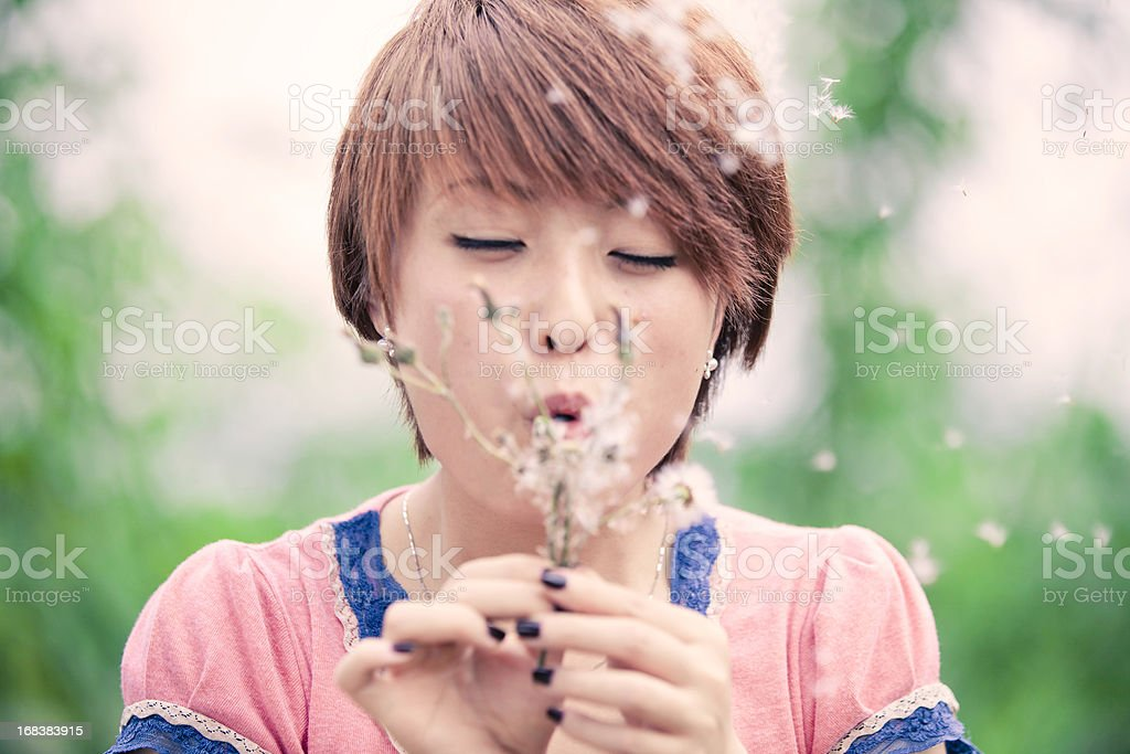 girl's wish royalty-free stock photo