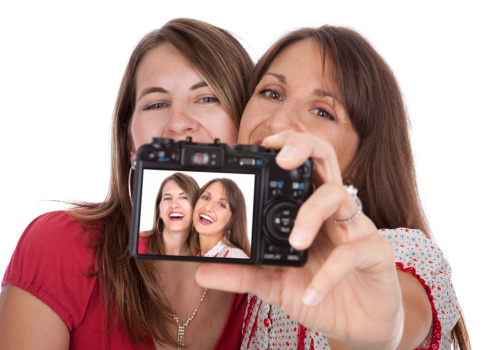 Girls With Digital Camera Stock Photo - Download Image Now
