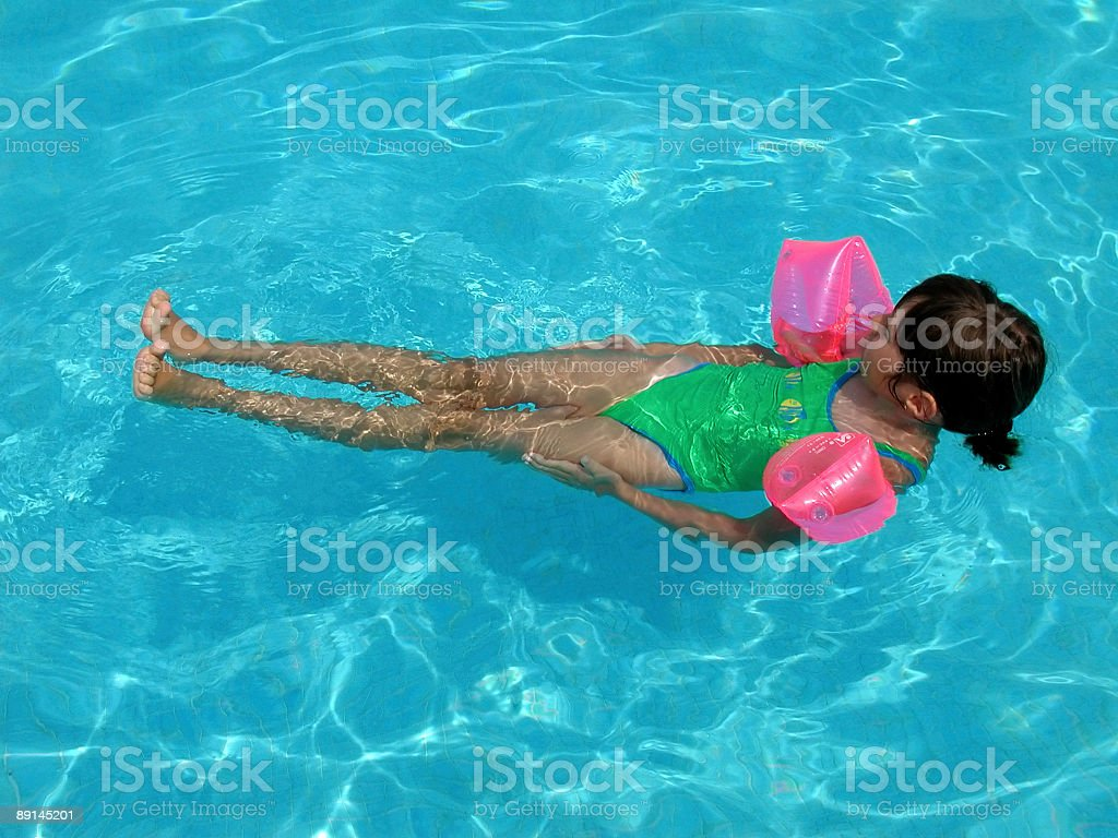 Girls with waterwings royalty-free stock photo