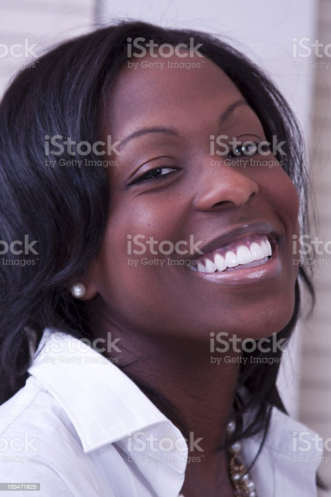 Girlsmile stock photo