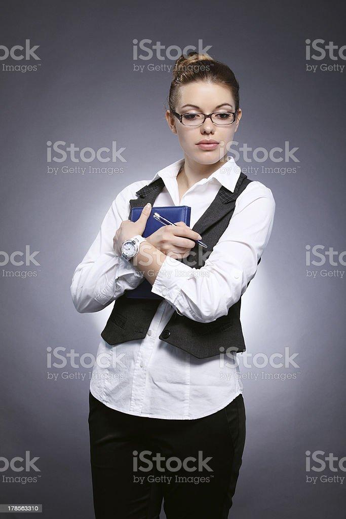 Girl-student royalty-free stock photo